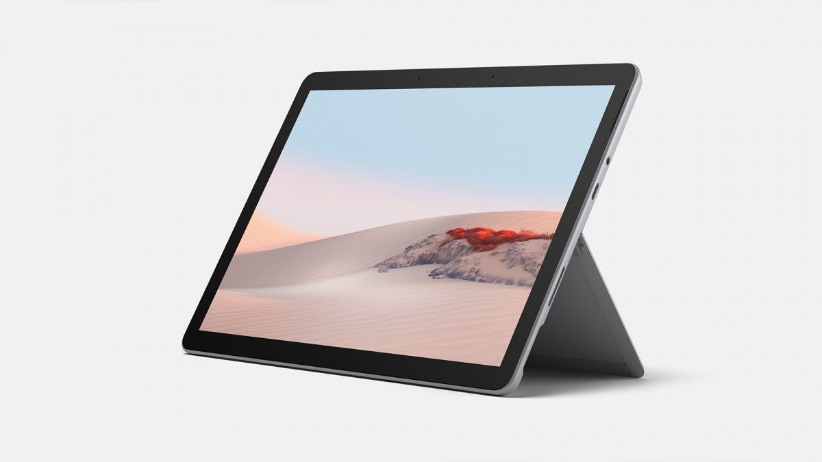 A photo of the Surface Go 2 without its keyboard.
