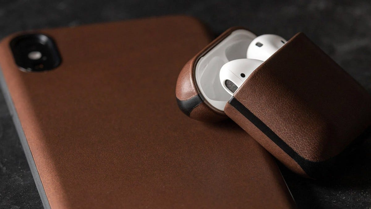 NOMAD cases for an iPhone and Airpods