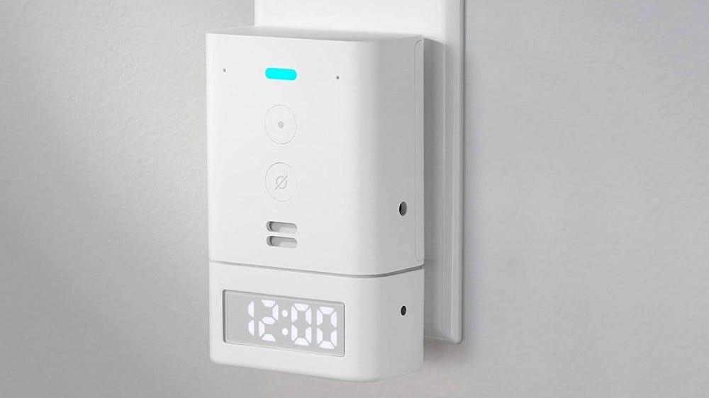 Echo Flex with smart clock attachment