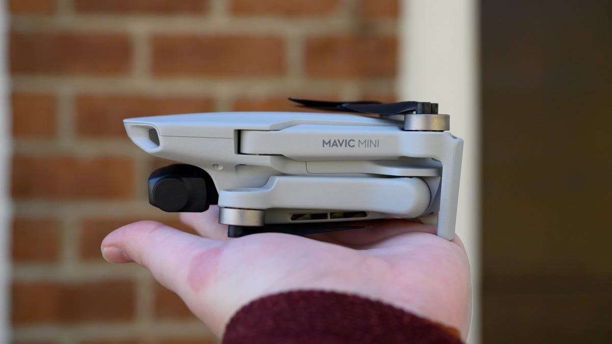 DJI Mavic Mini Folded in Hand