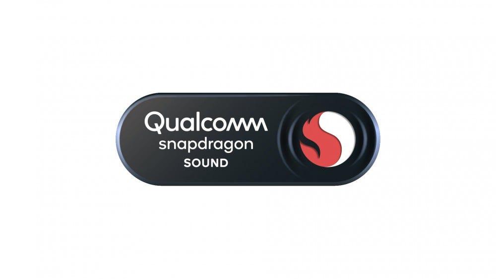 The Qualcom Snapdragon Sound logo on a white background.