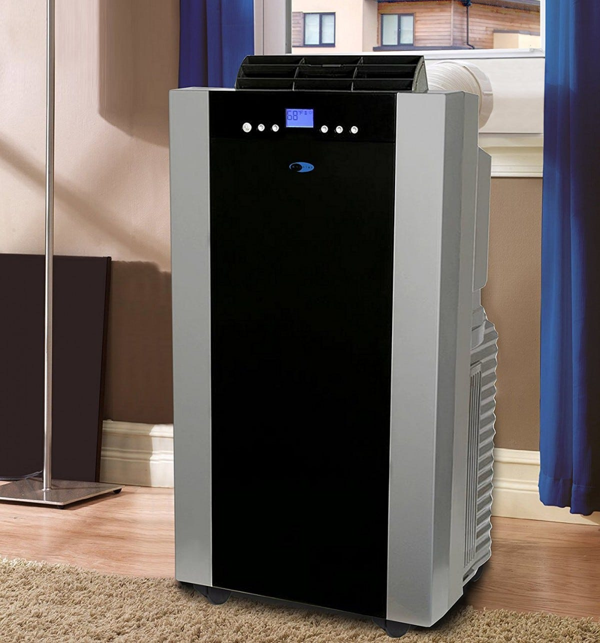 A portable AC unit is pricey, but more flexible than a semi-permanent window installation.