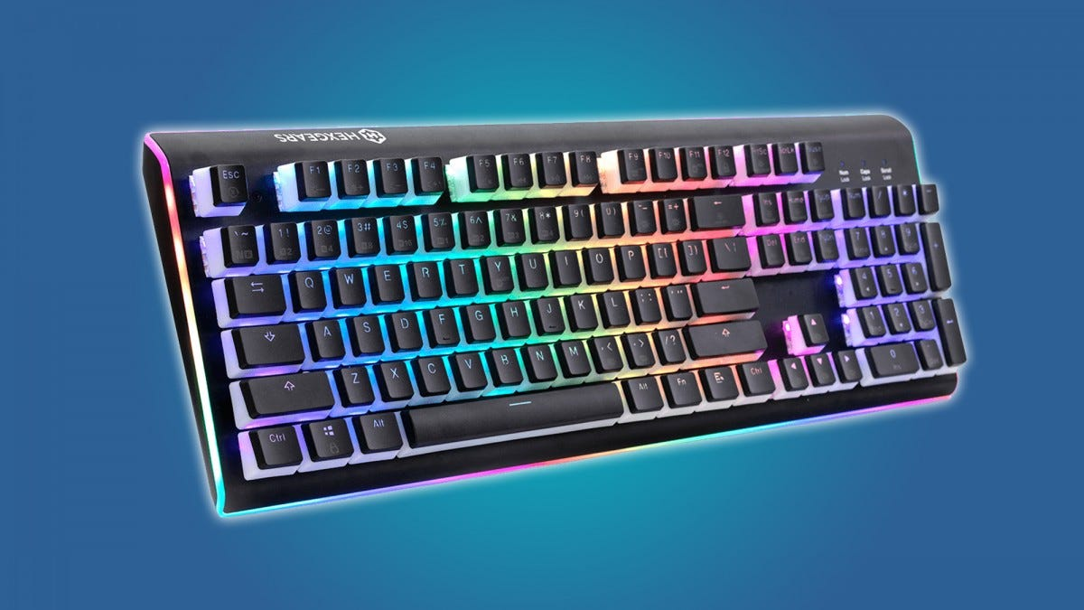 The Gexgears Impulse splash-resistant keyboard gets our recommendation.