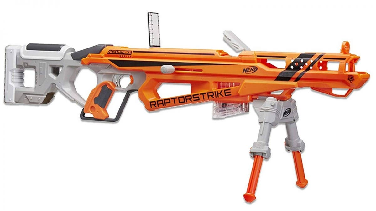 The Nerf N-Strike Elite AccuStrike RaptorStrike.