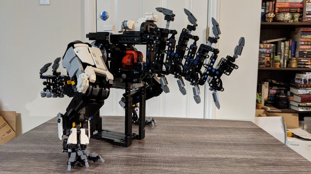LEGO Thunderjaw skeleton and legs