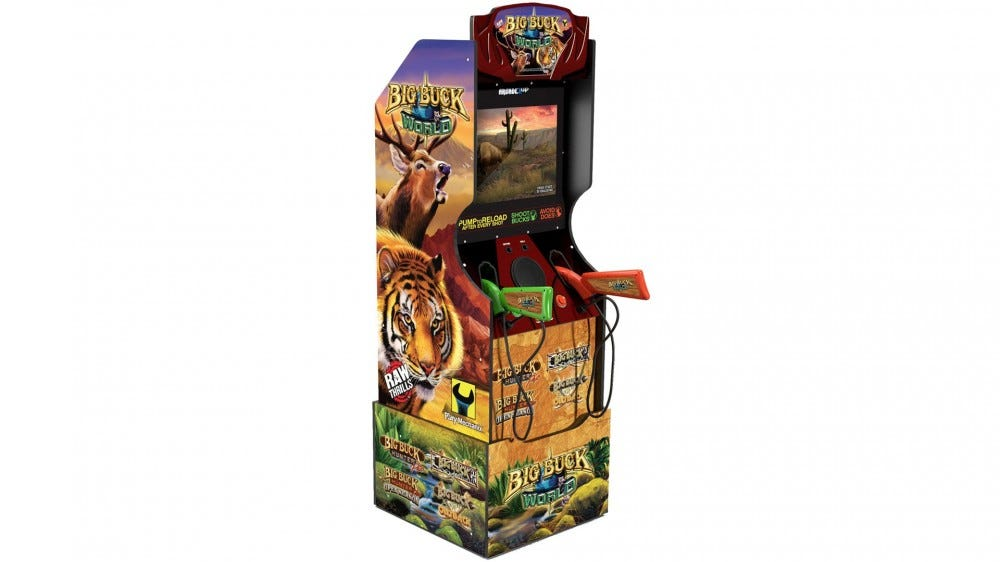 A 'Big Buck World' machine with two light cannons.