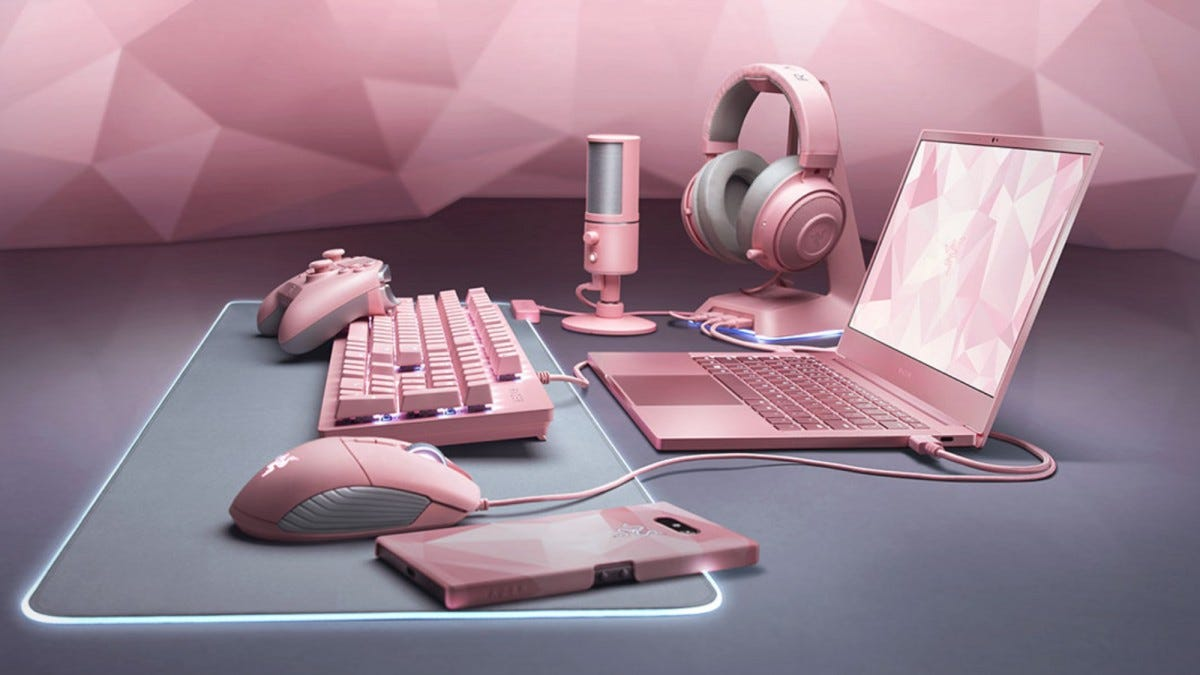 Razer's new lineup of Quartz Pink hardware.