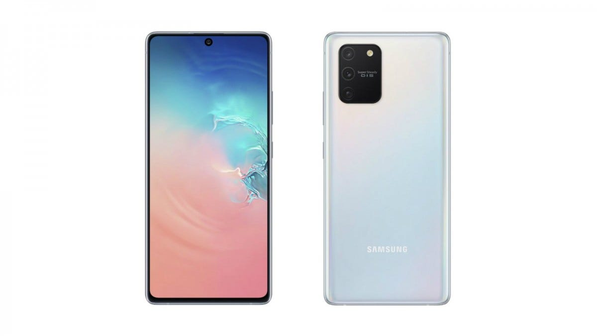 Samsung Galaxy S10 Lite from the front and back