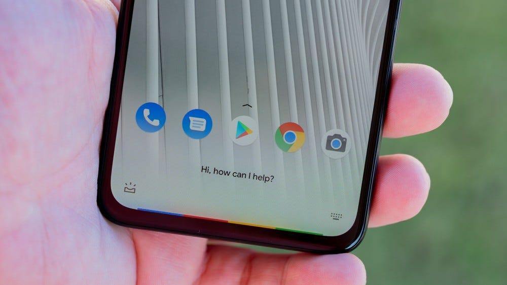 Pixel 4a 5G Google Now activation