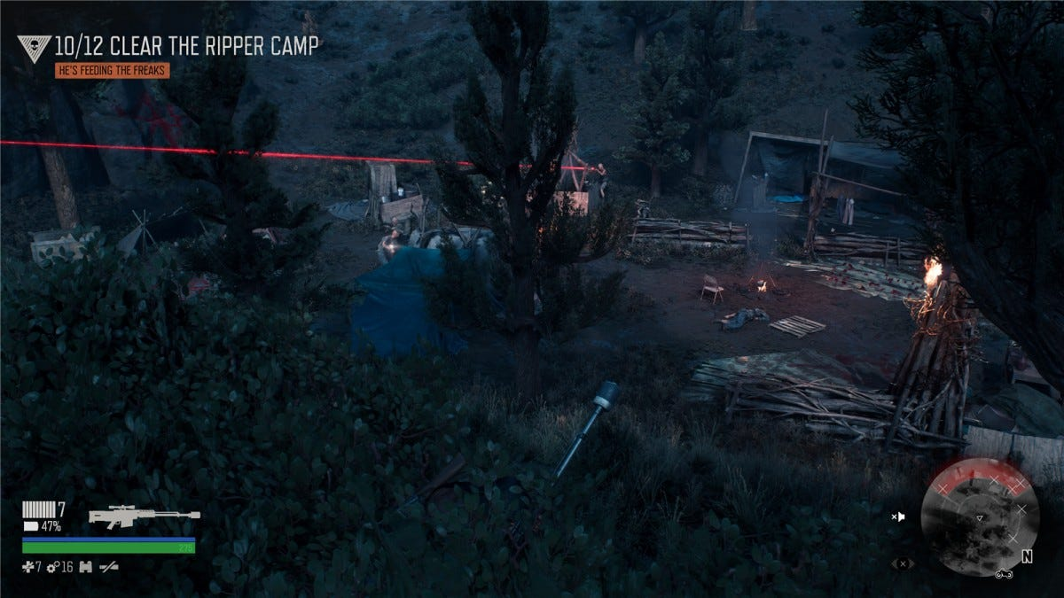 Taking out a Ripper camp in Days Gone