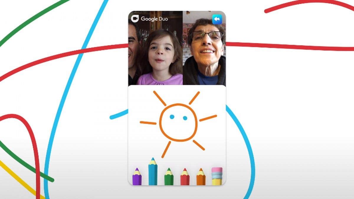 A screenshot of Google Duo's new Family Mode