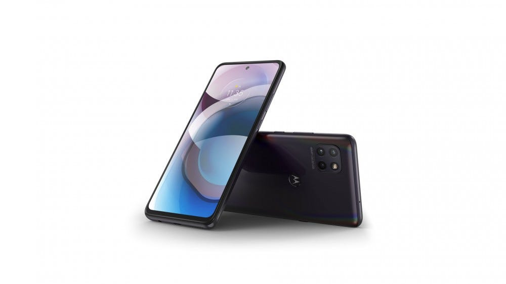 The Motorola One Ace 5G phone on a white background.
