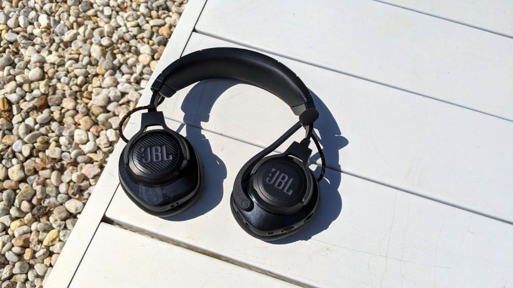 JBL Quantum 600 Headset on a white table