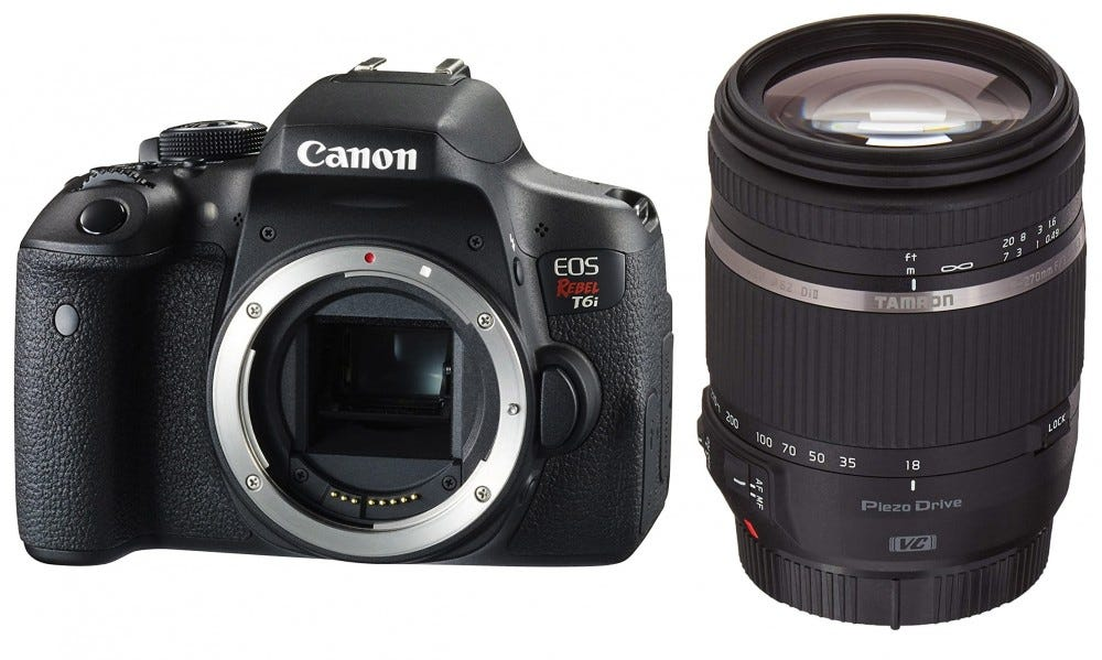 Canon Rebel T6i and Tamron 18-270mm lens