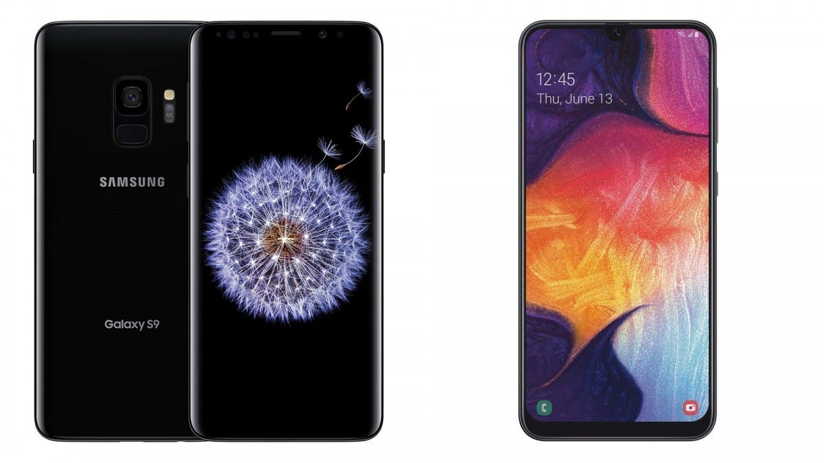 The Galaxy S9 and the Galaxy A50