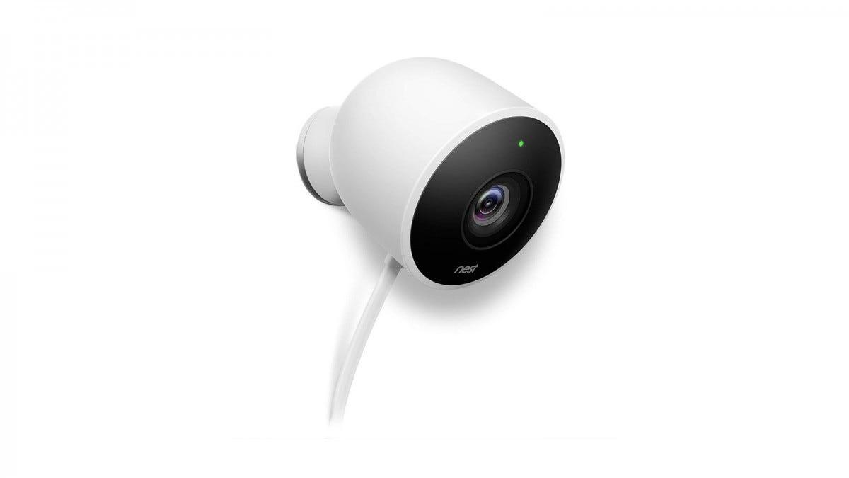 A white Nest camera.