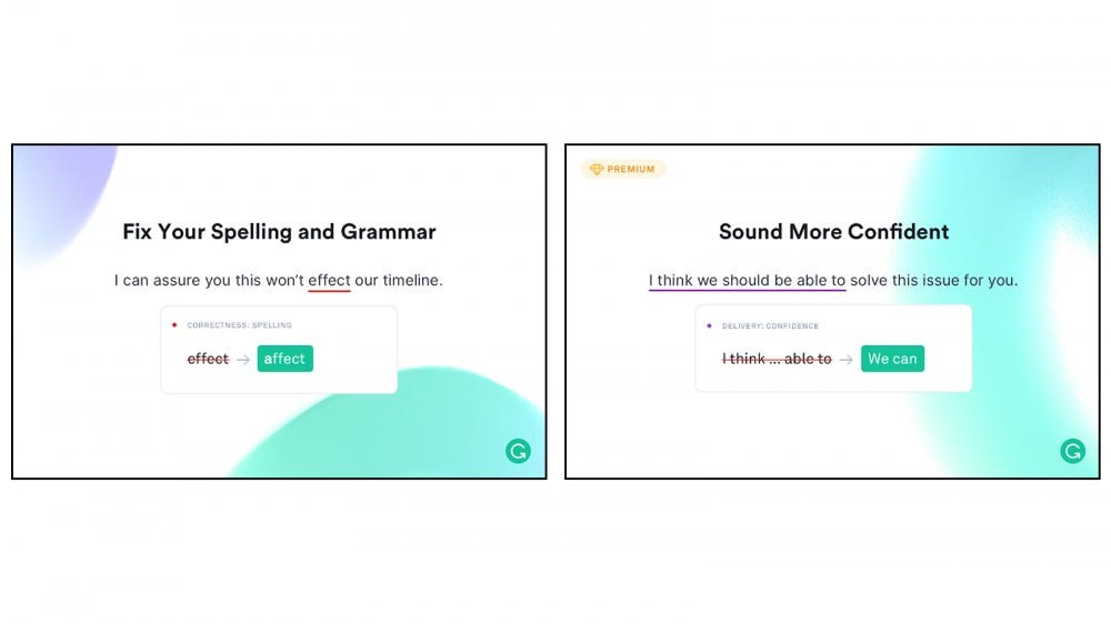 Grammar extension helps you get spelling and punctuation errors and make your writing stronger and more concise.