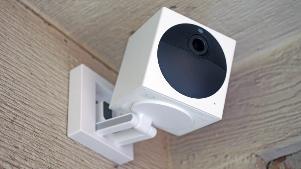 Wyze Cam Outdoor mounted to the wall