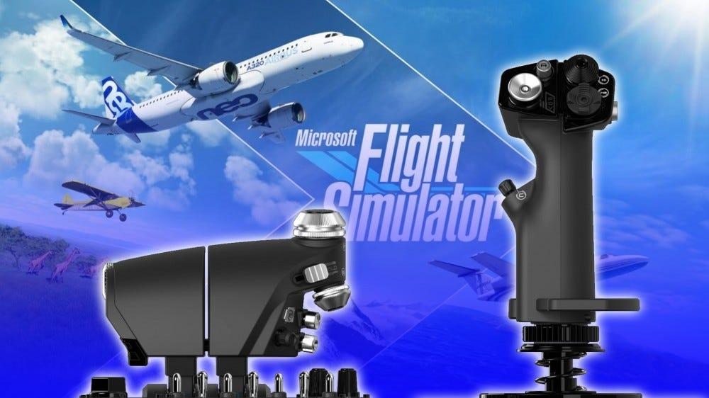 Logitech X56 HOTAS and Flight Simulator wallpaper