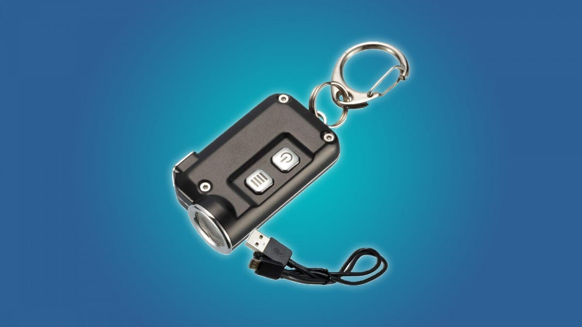The Nitecore TINI Rechargeable Keychain Flashlight
