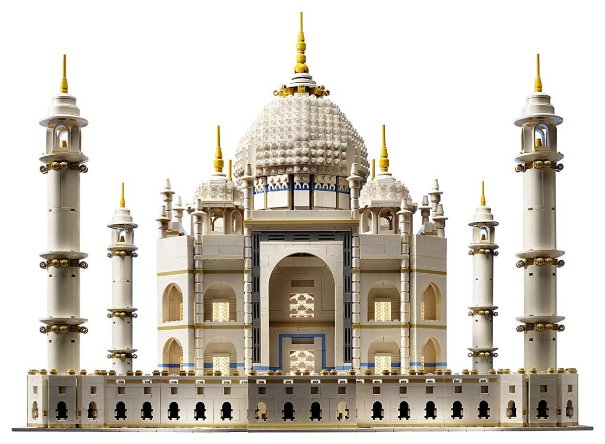 The gigantic LEGO Taj Mahal.