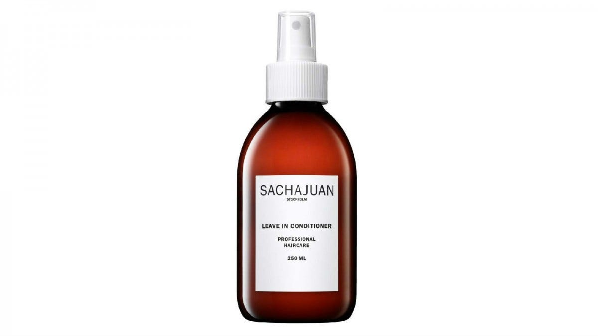 A spray bottle of Sachajuan Leave-In Conditioner.