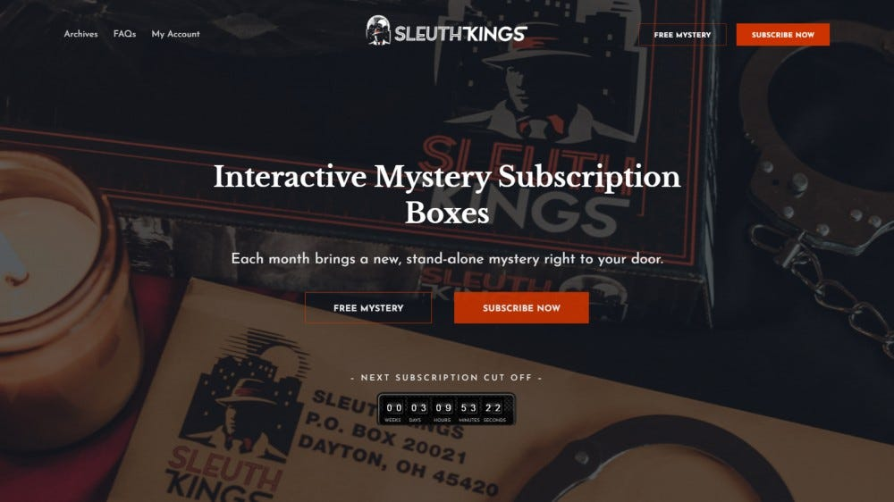 Sleuth Kings mystery crate