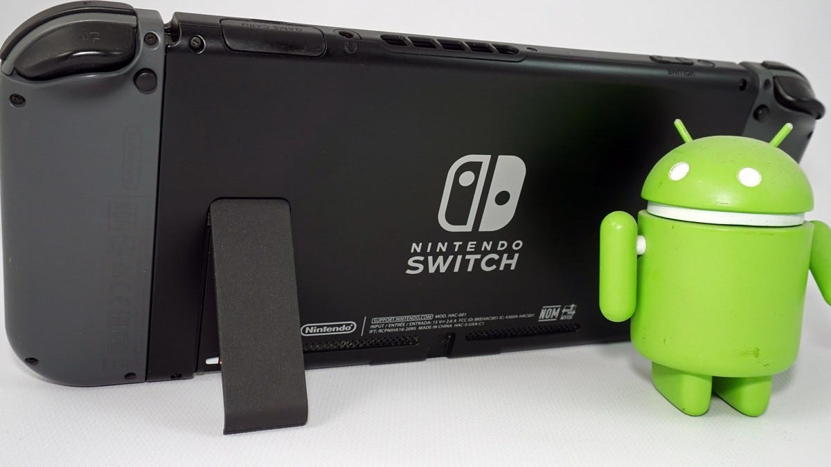The back of a Nintendo Switch.