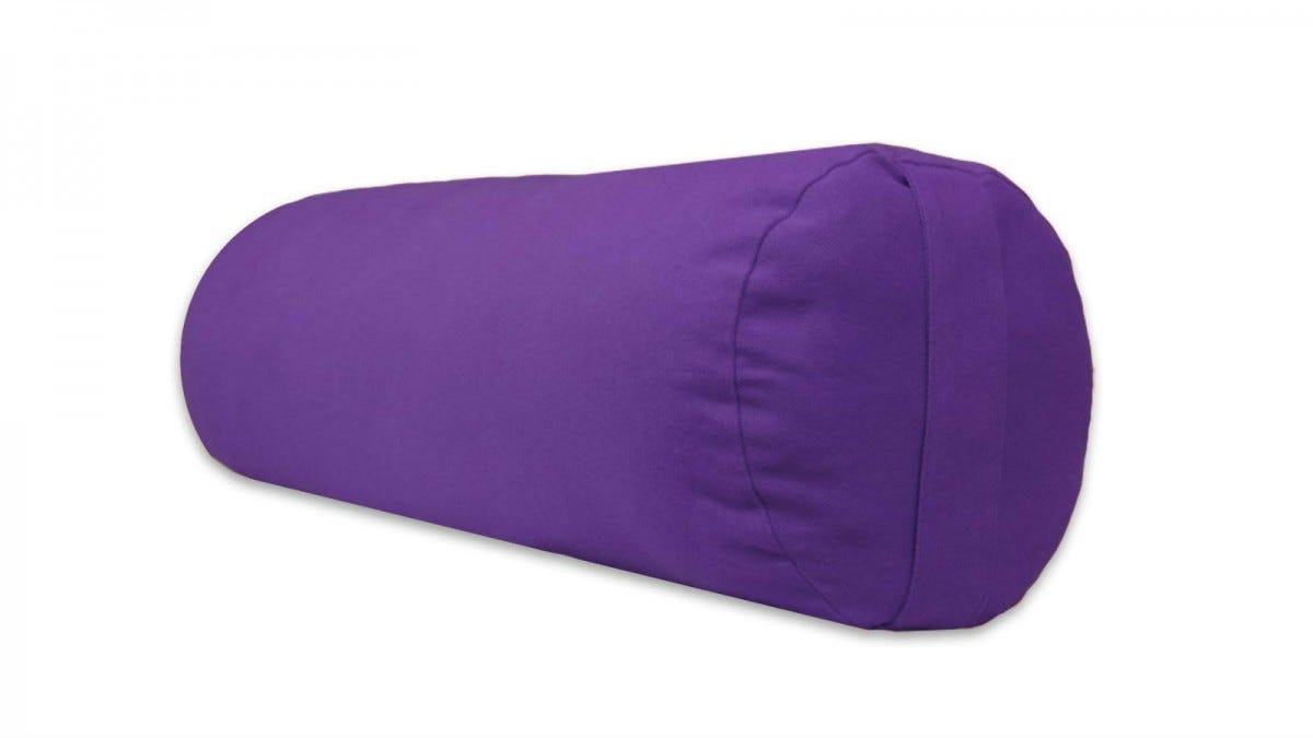 YogaAccessories Supportive Round Cotton Bolster