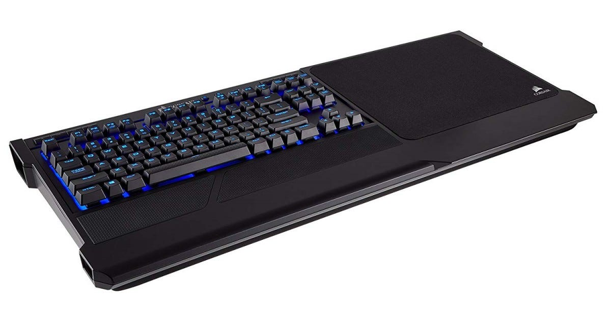 Corsair's K63 has an optional lapboard add-on.