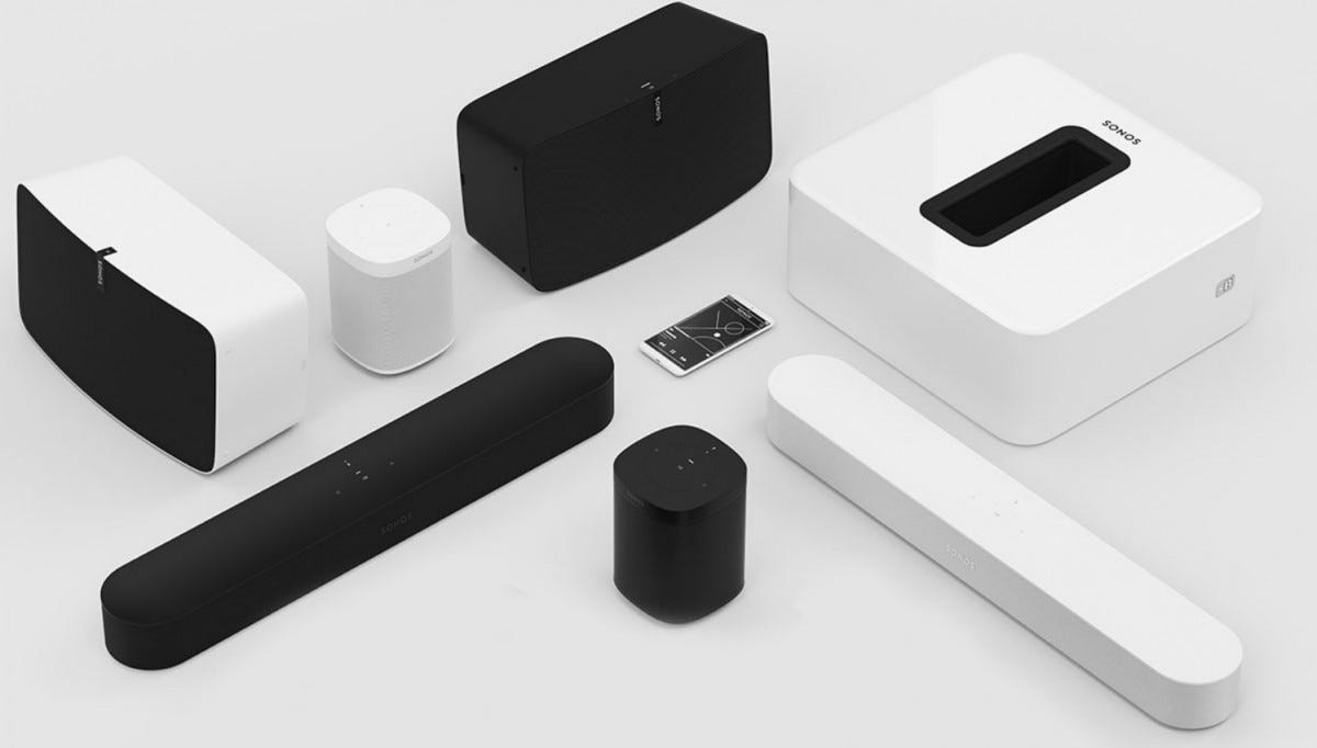 sonos, sonos products, whole home audio, wifi speakers,