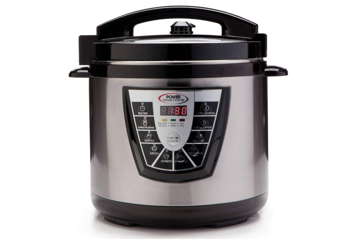This model has a massive ten quart cooking capacity.