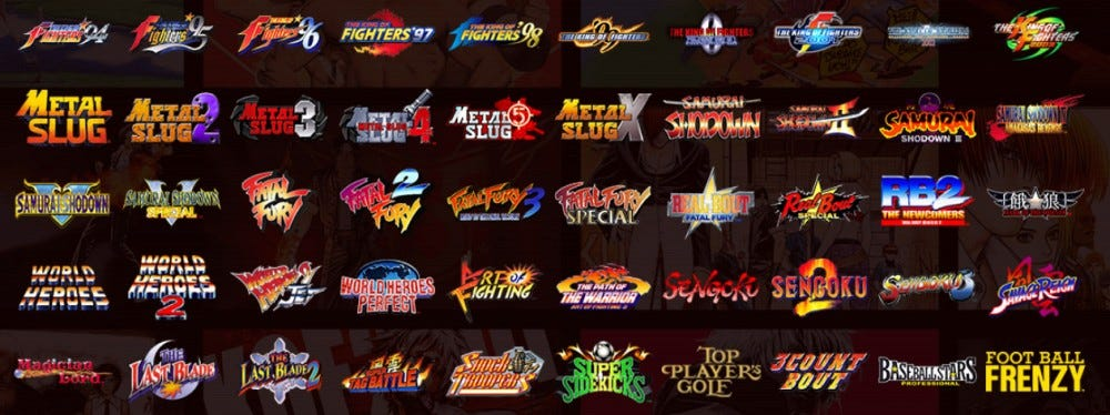 MVSX game list