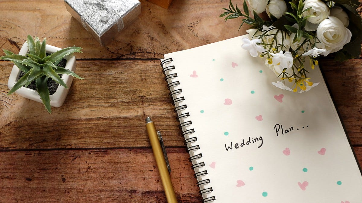A wedding planner book