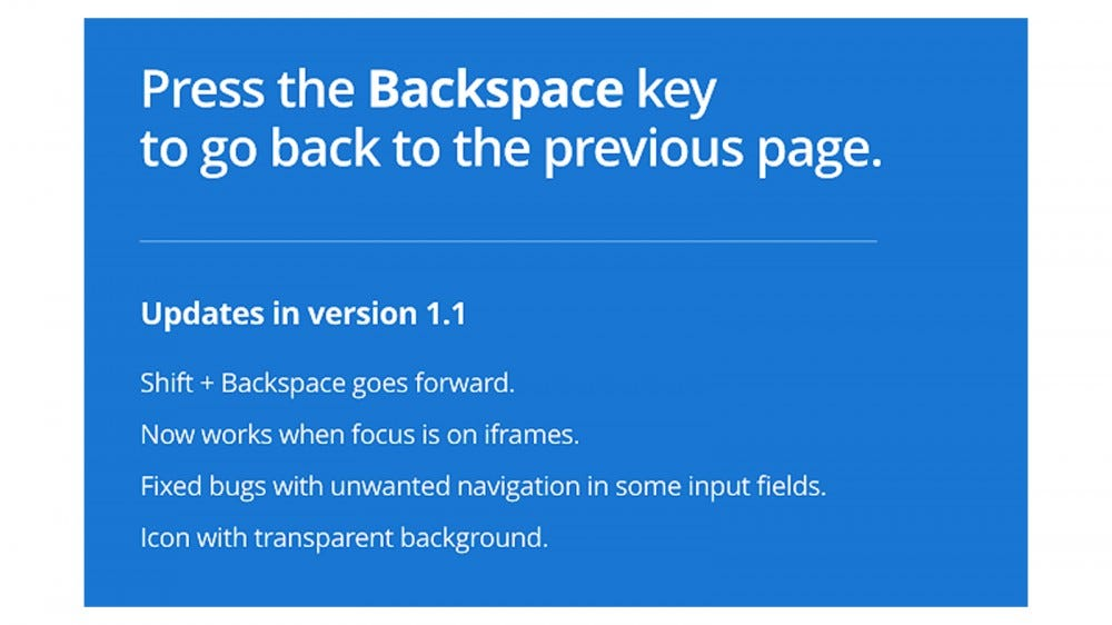 With Backspace to go back, you can do just that