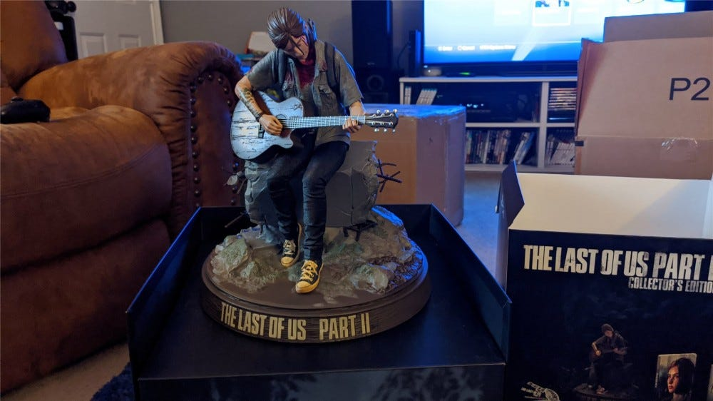 A look at the Ellie statue from The Last of Us Part II Collector's Edition