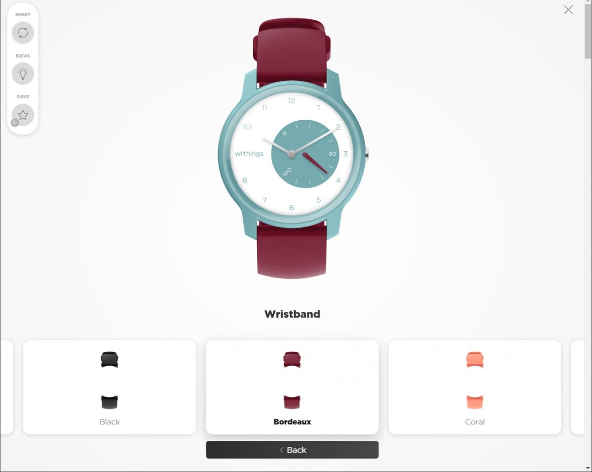 Withings will offer multiple points of color and pattern customization on the Move...but not yet.