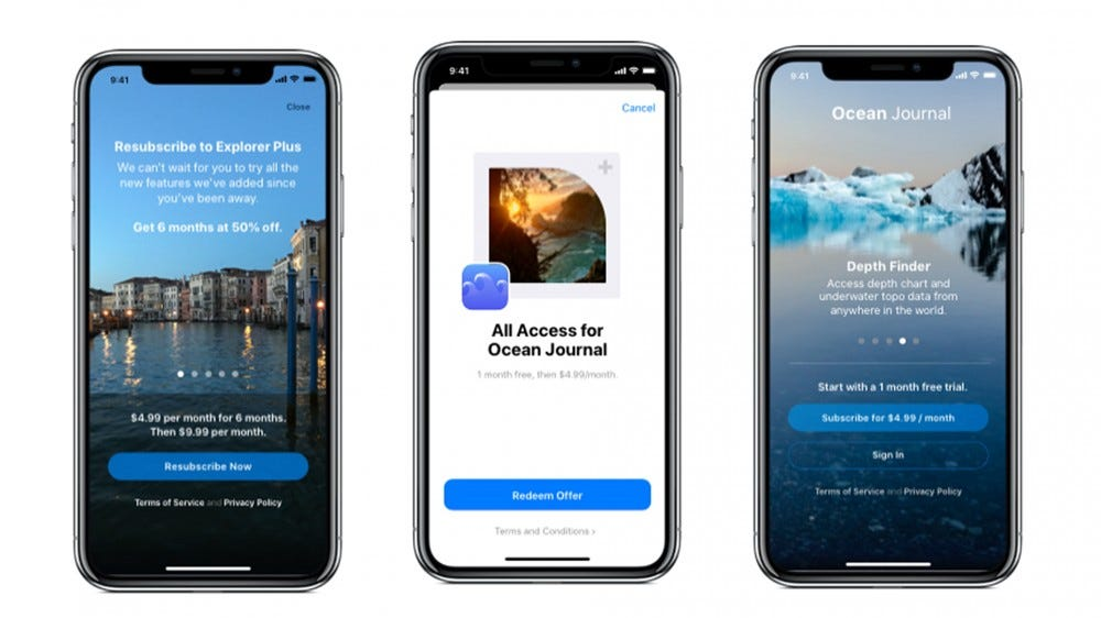 An illustration of Offer Codes on iOS 14.