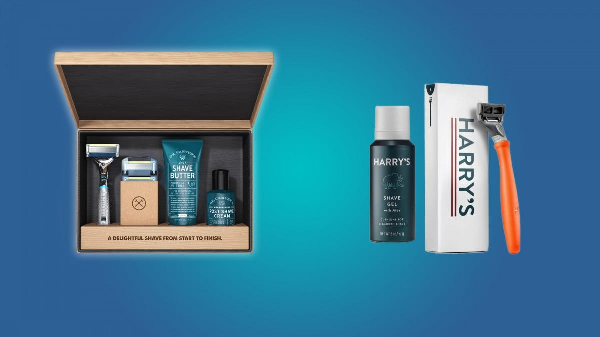 The Dollar Shve Club box set and some Harry's subscription products