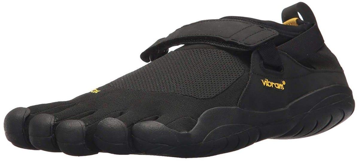 Vibram KSO FiveFingers shoe.