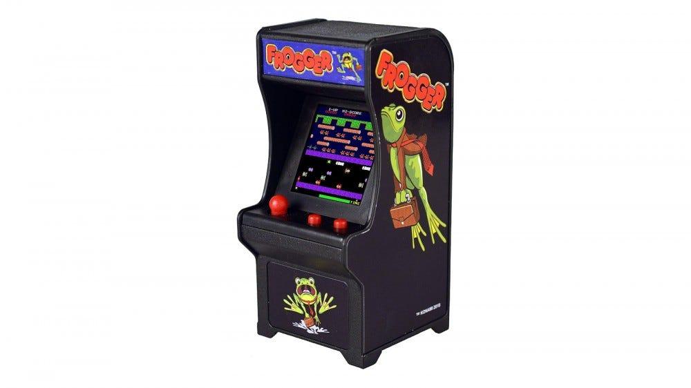 Small Arcade Frogger Cabinet