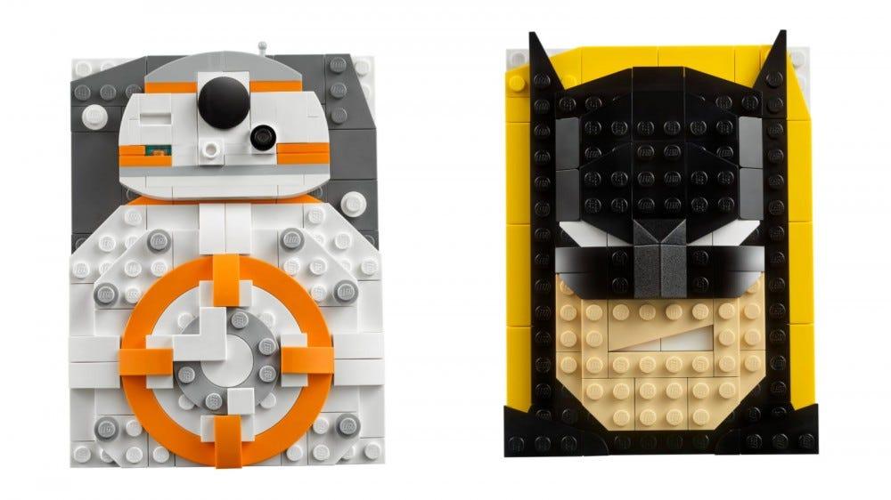 LEGO BB-8 tégla vázlatok és Batman készletek