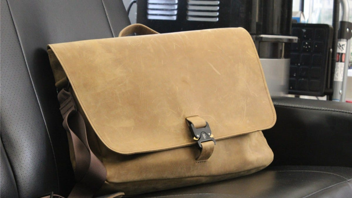 WaterField Executive Leather Messenger