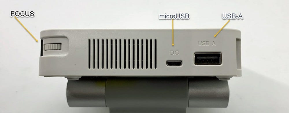 Picture shows USB connections