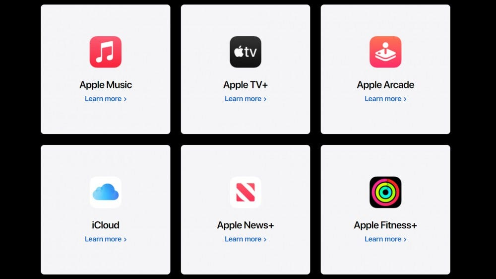 Apple one services