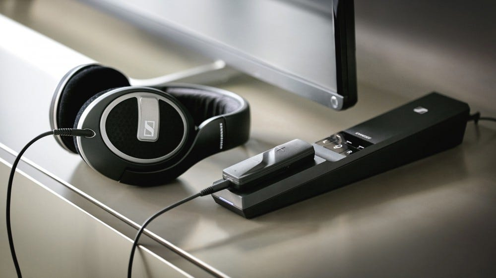 The Sennheiser Flex 5000 lets you use your wired headphones to listen to your favorite TV shows.