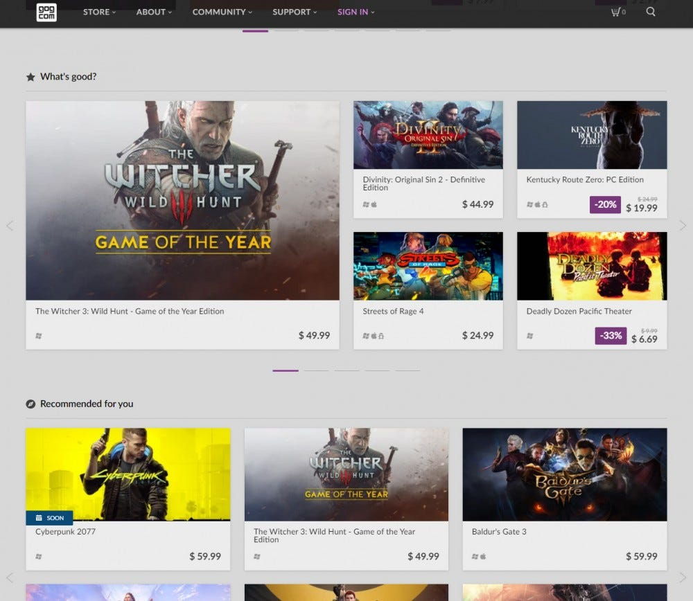 GOG.com screenshot