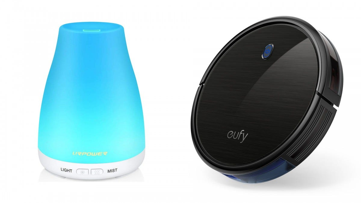 The URPOWER oil diffuser and the Eufy RoboVac 11S