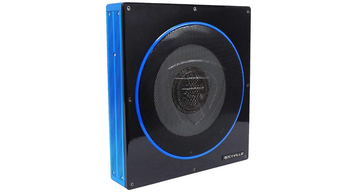 The Rockville RW10CA subwoofer.