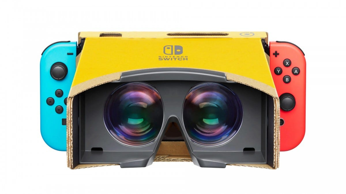 A photo of the Labo VR headset.